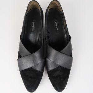 Paul Green Daniella Pointed Suede Wedge Heels 10